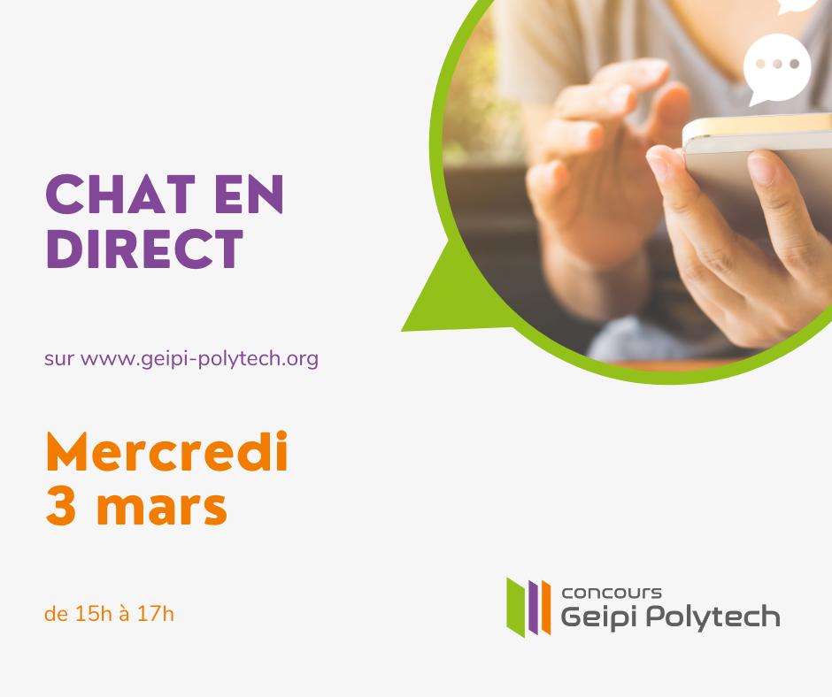 Chat en direct Geipi Polytech - 3 mars